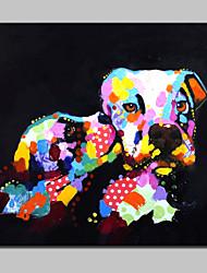 baratos -pintura a óleo animal abstrata moderna pintada à mão grande em tela de parede imagem de arte para decoração de casa com quadro