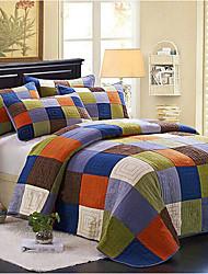 "3PC Quilt Sets Full Cotton Euro Pattern 94""W*100""L"