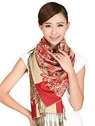 Women Vintage Casual Autumn and winter National Wind Cashew Flowers Fringed Jacquard Warm Scarves