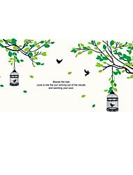 Botanisk Mode Former Vægklistermærker Fly vægklistermærker Dekorative Mur Klistermærker Materiale Kan fjernes Kan genpositioneresHjem