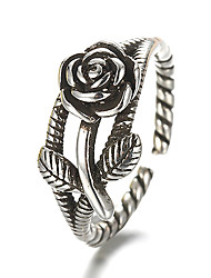 cheap -Unisex Sterling Silver / Silver Band Ring - Vintage / Punk Silver Ring For Daily / Casual
