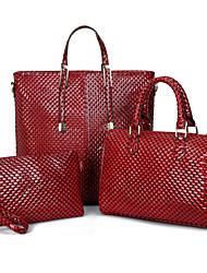 preiswerte -Damen Taschen PU Bag Set 3 Stück Geldbörse Set Reißverschluss für Normal Ganzjährig Gold Schwarz Rote Gelb Braun