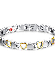 cheap -Women's Jewelry Health Care Silver & Gold Titanium Steel Magnetic Therapy Bracelet Christmas Gifts