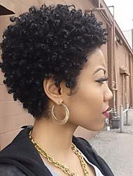Femme Perruque Naturelles Dentelle Brésiliens Cheveux humains Full Lace Lace Front Densité Avec queue de cheval Avec Mèches Avant Très
