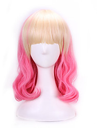 cheap -Synthetic Wig / Cosplay & Costume Wigs Natural Wave Pink Synthetic Hair Ombre Hair Pink Wig Women's Capless