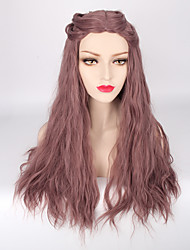 Capless Purple Color High Quality Natural Wave Synthetic Wigs