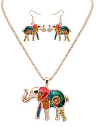 cheap -Women's Jewelry Set - Leather Elephant, Animal European, Fashion Include Necklace / Earrings Silver / Golden For Party / Daily / Casual