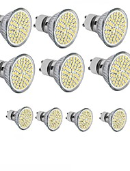 abordables -hkv® 3.5w gu10 gu5.3 e27 led projecteur mr16 60smd 2835 300-350 lm blanc chaud froid blanc dc 12 ac 110 / 220v 10 pcs