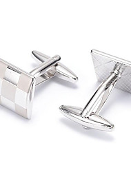 cheap -Silver Cufflinks Alloy Work / Casual Men's Costume Jewelry For