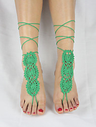 Women's Beach Wear Barefoot Fashion Crochet Sandals Ankle Bracelet Anklet Jewellery Barefoot Sandals