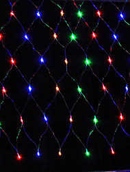 cheap -5m String Lights 96 LEDs Dip Led Warm White / Red / Blue Waterproof / Rechargeable 100-240 V / IP65