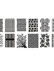 Недорогие -1шт маникюр защита окружающей среды печать лак для ногтей шаблон картина молочно-белая пластиковая пластина