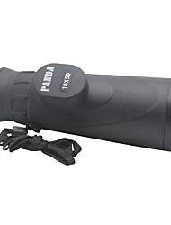 Недорогие -PANDA 10 X 50 mm Монокль Высокое разрешение Высокая мощность Зрительная труба Многослойное покрытие пластик Стекловолокно / Для охоты / Наблюдение за птицами / Определение расстояния / Ночное видение