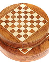 Недорогие -маточное ул. магнитное деревянные шахматы круговое магнитное шахматы костюмы чистые куски древесины загрузки больших портативную (g211a)