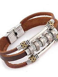 billige -Unisex Legering / Læder Kæde Armbånd Ikke-sten
