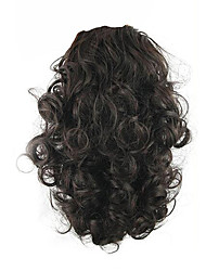 cheap -Dark Auburn Drawstring Curly Ponytails Synthetic Hair Piece Hair Extension