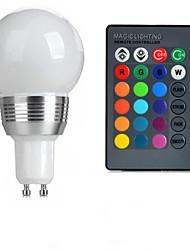 baratos -100-200 lm GU10 Lâmpada Redonda LED A50 1 Contas LED LED de Alta Potência Controle Remoto RGB 85-265 V / 1 pç