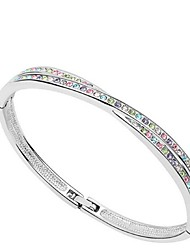 cheap -Thousands of colors Women's Cuff Bracelet Alloy Crystal-3-086