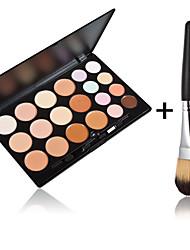 20 Colors Contour Face Cream Makeup Concealer Palette + 1 PCS High Quality Powder Brush