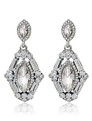 cheap -Women's Cubic Zirconia Earrings - Zircon, Cubic Zirconia Fashion White For Wedding / Party / Diamond