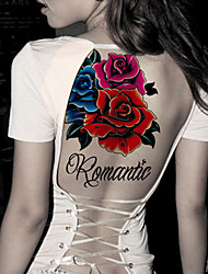 cheap -Fashion Large Temporary Tattoos Romantic Sexy Body Art Waterproof Tattoo Stickers 2PCS  (Size: 5.71'' by 8.27'')