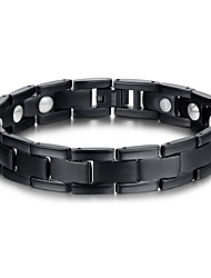 cheap -Men's Jewelry Health Care Black Titanium Steel Magnetic Therapy Bracelet Fashion  Jewelry Christmas Gifts