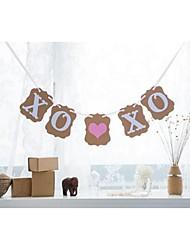 abordables -Mariage Fiançailles Enterrement de Vie de Jeune Fille Papier cartonné Décorations de Mariage Thème plage Thème jardin Thème floral