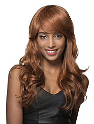 cheap -Amazing Long Light Auburn Curly Hair Styles for Women Remy Human Hair Capless Wig