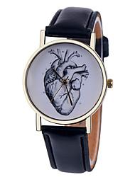 Human Anatomy Heart Watch,Vintage Style Leather Watch,Women Watches,Boyfriend Watch,Men's Watch,Black and White Cool Watches Unique Watches