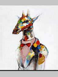 baratos -mão grande pintura a óleo lona pintada abstrato moderno veados imagens de animais, com quadro esticado pronto para pendurar