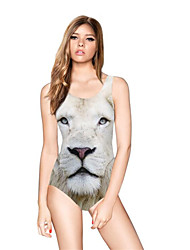 cheap -FuLang swim One-Piece Suits   Paige  Thin   sexy backless  White lion  SC079
