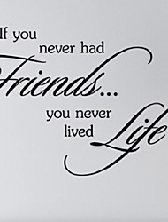cheap -If You Never Had Friedns You Never Lived Life Wall Stickers