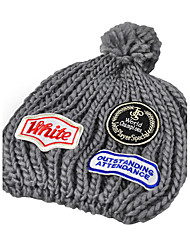 cheap -Plush Ball Cap Affixed Cloth Fashion Autumn And Winter Outdoor Warm Knit Hat