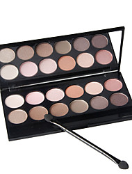 abordables -12 colores Sombras de Ojos / Polvos / Pinceles de Maquillaje Ojo Espejo / Natural Gloss colorido Cobertura Natural Maquillaje de Diario / Maquillaje de Halloween / Maquillaje de Fiesta Maquillaje