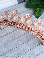 economico -copricapo di tiaras in lega di strass di cristallo stile femminile classico