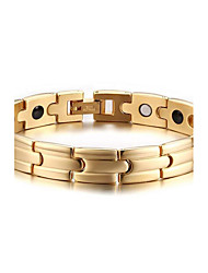 Men's Jewelry Health Care Gold Stainless Steel Magnetic Therapy Bracelet Fashion Gift Jewelry