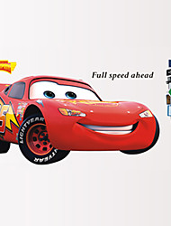 cheap -Cars 2 Lightning Mcqueen Wall Stickers Cartoon Movie Car Wall Decals