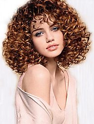 cheap -Synthetic Wig Curly African American Wig Brown Women's Capless Carnival Wig Halloween Wig Medium Synthetic Hair