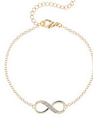 cheap -Kiming Korean Seweet Gold/Silver Chain Infinite Shape Bracelet Jewelry