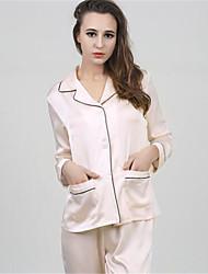 baratos -Mulheres Pijamas, Média Algodão Azul Rosa claro