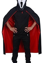 Halloween Black Red Cosplay Costume Theater Prop Death Hoody Cloak Devil Mantle Ab Wear Long Tippet Adult Hooded Cape