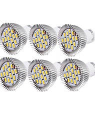 cheap -6W GU10 LED Spotlight R63 15 SMD 5630 450-500 lm Warm White Cold White 3000/6000 K Decorative AC 110-130 AC 220-240 V