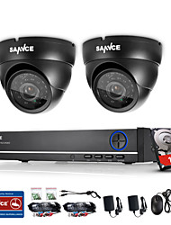 SANNCE® 4CH 720P DVR Surveillance System with 4HD 1280*720TVL Outdoor Security Cameras Built-in 1TB HDD