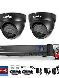 sannce® 4ch 720p DVR система видеонаблюдения с 4HD 1280 камеры * 720tvl Открытый безопасности встроенный в 1tb НЖМД