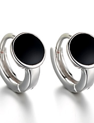 cheap -Stud Earrings / Earrings - Sterling Silver, Silver Punk, Fashion Black For Wedding / Party / Daily