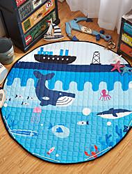 """Ocean World Toys Storage Bag Carpet Kids Game Mats diameter 59"""" baby Crawling multifunctional round blanket Play Rug"""