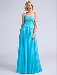 cheap -LAN TING BRIDE Floor-length Sweetheart Bridesmaid Dress - Open Back Sleeveless Chiffon Lace
