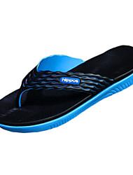 Men's Shoes Rubber Casual Slippers / Flip-Flops Casual Indoor Court Flat Heel  Black / Blue / Green / Orange