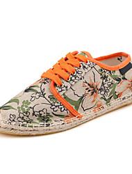 cheap -Women's Flats Spring / Summer / Fall Espadrilles Fabric Athletic / Casual Flat Heel  Purple / Gray / Orange Walking
