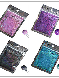 1pcs Nail Art Beautiful Color Colorful Laser Glitter Powder Nail DIY Decoration L13-16